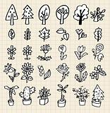 hand draw tree icon