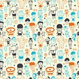 cute cartoon pattern seamless