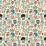 funny element seamless pattern vector illustration