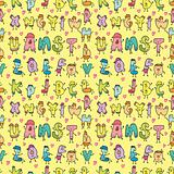cute letters seamless pattern