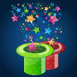 magic hat with stars