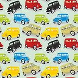 seamless pattern isolated old cars