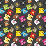 seamless pattern isolated phones