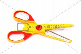 Modern yellow scissors