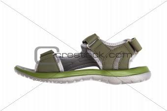 green rubber sandal