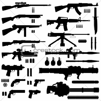 Gun Army Military Weapon Vector