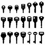 Key Black Silhouette Vector