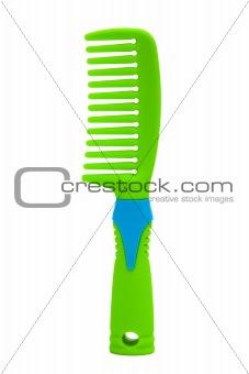 green plastic comb