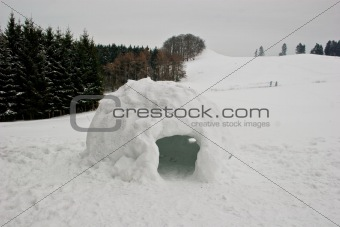 Igloo in the german Habichtswald mountains