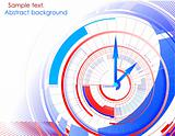 Abstract clock colorful background. Vector