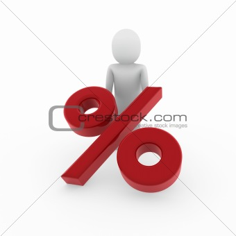 3d human sale prozent red
