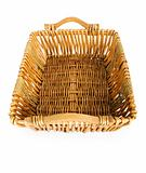 Big basket isolated on the white background