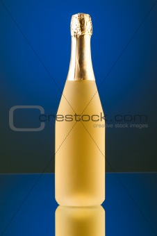 Champagne against color gradient background
