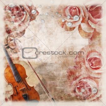 grunge wedding romantic background