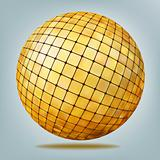 Golden disco ball. EPS 8