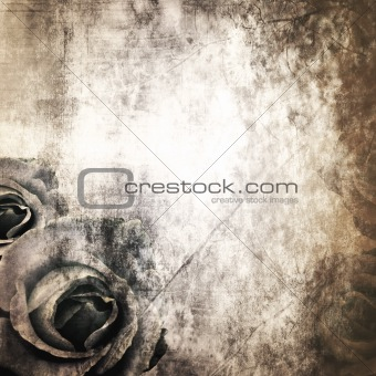 Grunge Beautiful Roses Background ( 1 of set)