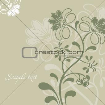 Grey Flower Ornament. Vector