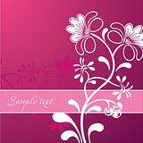 Pink Flower Ornament. Vector