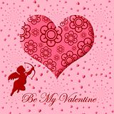 Valentine's Day Cupid with Bow and Arrow Pink Heart