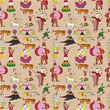 seamless circus pattern