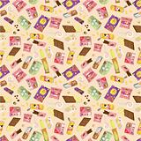 seamless snacks pattern