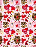 seamless Valentine&#39;s Day pattern
