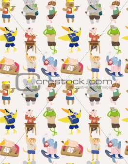 seamless animal student pattern