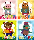 cartoon animal card