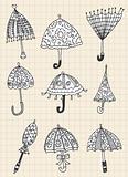 umbrella doodle