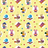seamless summer animal pattern