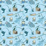 seamless fishing pattern