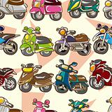 seamless motorcycle pattern