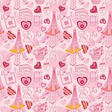 seamless Paris pattern