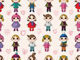 seamless cute cartoon pattern