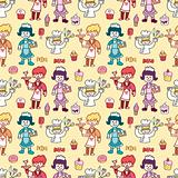 seamless restaurant pattern