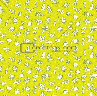 seamless toy pattern