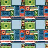 tv radio seamless pattern