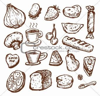 sketch food