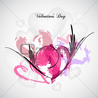Grunge Heart Background. Vector