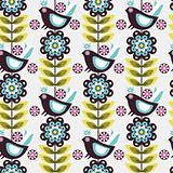 pattern flower bird