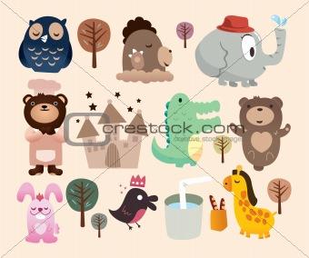 cartoon zoo card