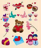 cartoon Valentine's Day icon