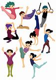 cartoon gymnastic icon