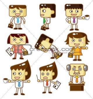 cartoon workers