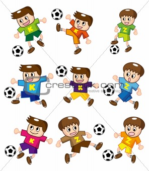 cartoon soccer icon