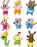 cartoon summer animal icon