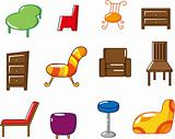 cartoon furniture icon