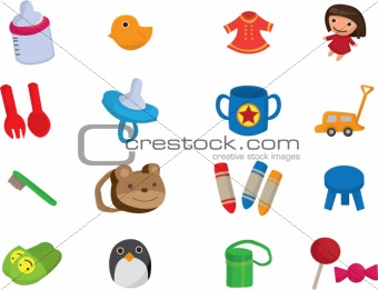 baby toy cartoon element