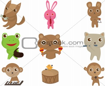 animal play music