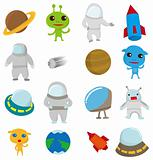 cartoon Outer space icon